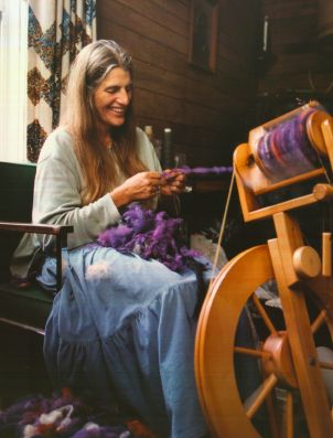hand spinning wool for hats
